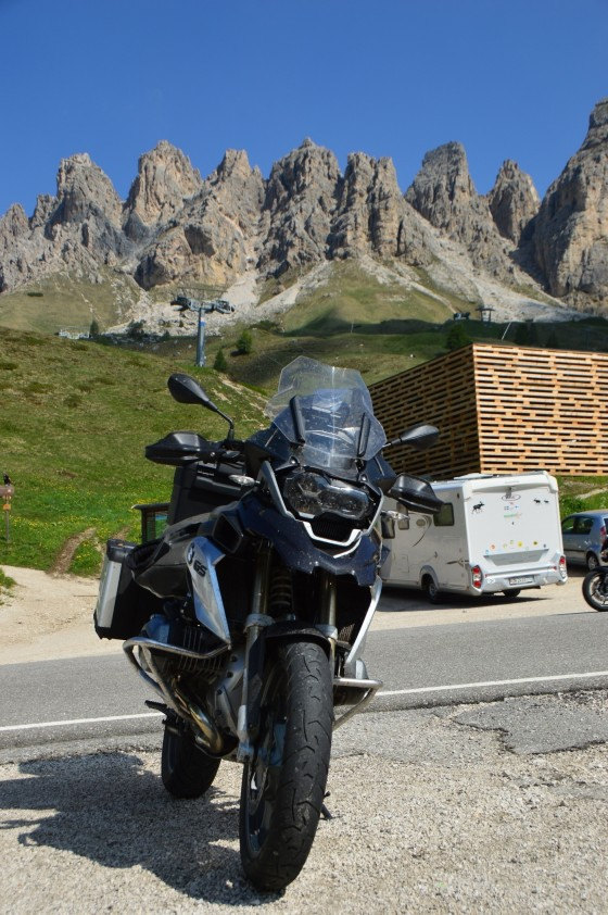 27 bmw gs am grödner joch tour italien juni 2015