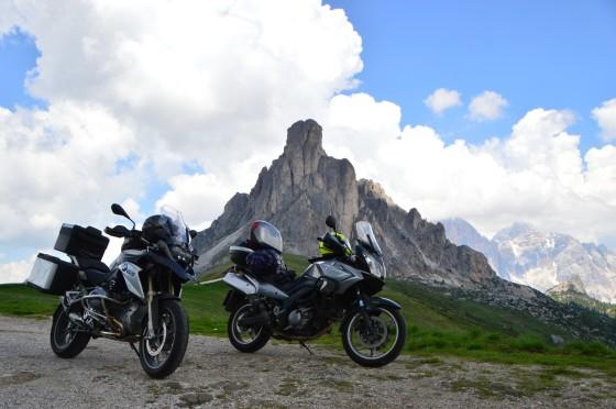 32 motorräder am passo giau tour italien juni 2015