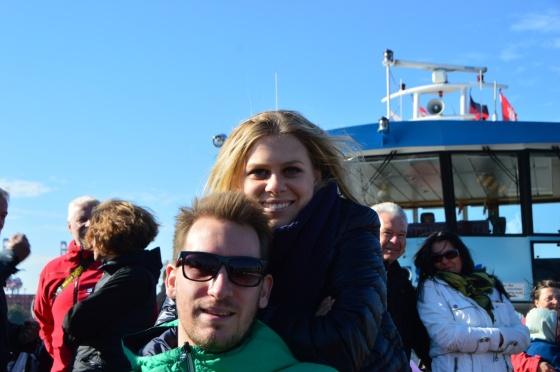 Berni und Yvonne an Deck