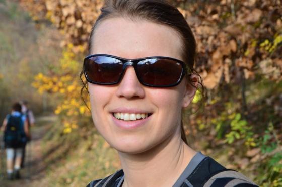 Michelle am Weg nach Dürrnstein