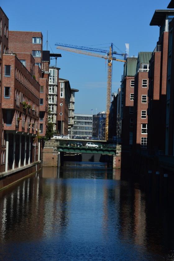 Speicherstadt mit Kran Hamburg