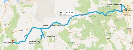 karte reise USA Teil 1