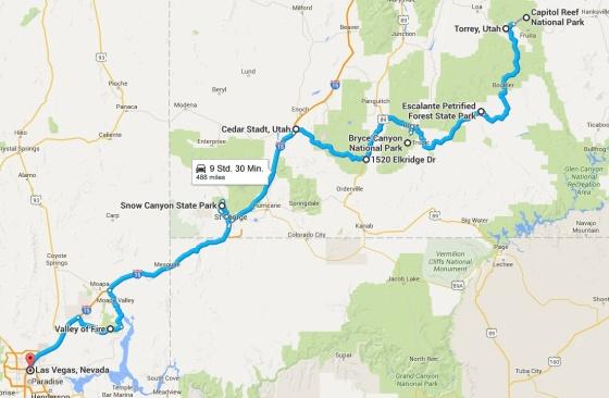 karte reise USA Teil 2
