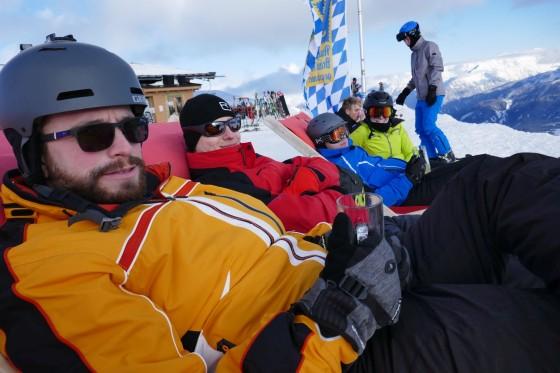 apres skifahren liegen