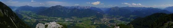 aufstieg panorama katrin klettersteig mit wolfgangsee