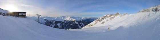 bad hofgastein ski panorama abend