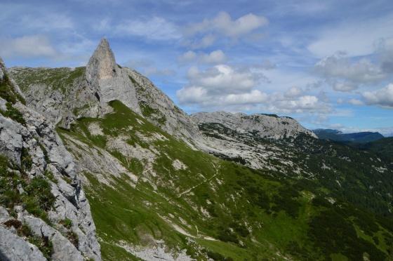 blick auf tragl von gamsblick klettersteig