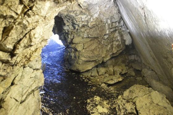 blick aus der höhle am stöger steig