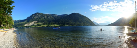 grundlsee in abendsonne