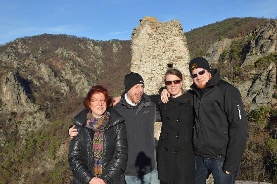 gruppenfoto auf der ruine dürnstein
