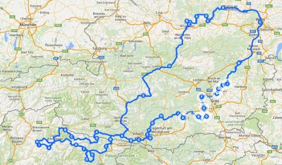 karte tour italien 2015