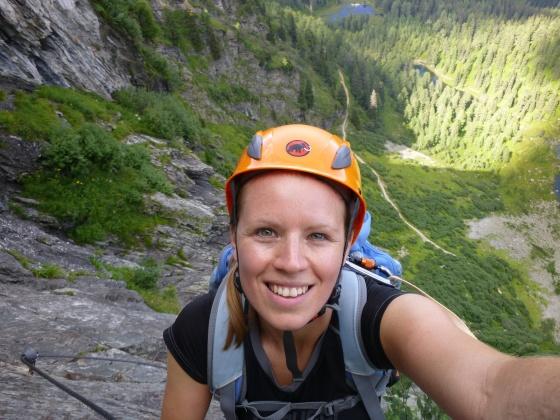 michelle selfi franzi klettersteig