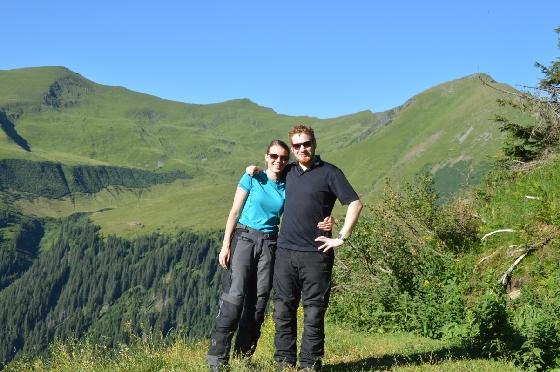 michelle und ich am sölkpass