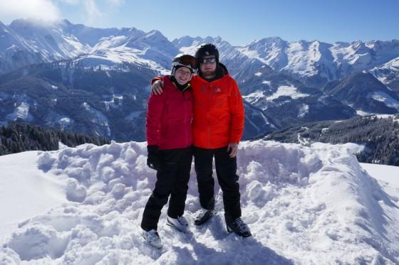 michelle und ich winterpanorama