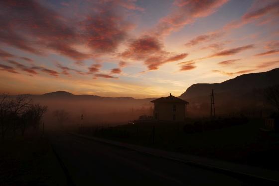 nebel abendstimmung hohe wand