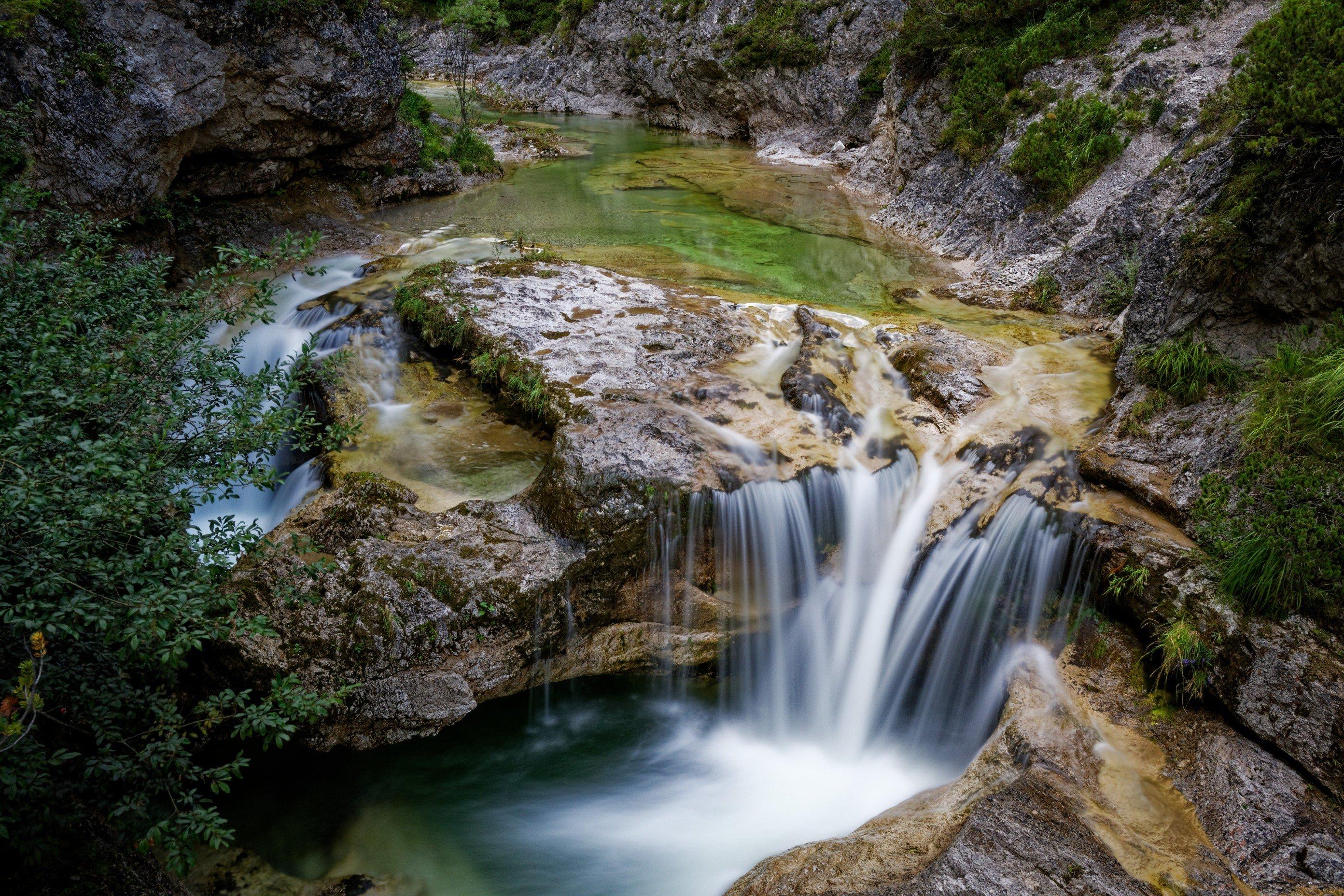 Einer der vielen Wasserfälle in den Ötschergräben - hier beim Ötscherhias