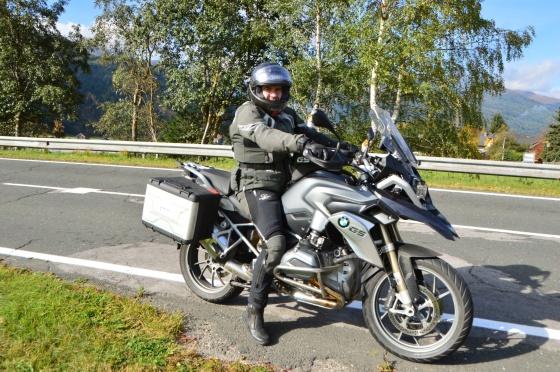onkel am motorrad