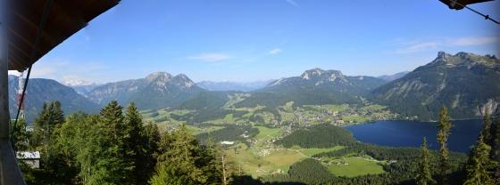 panorama altaussee von aussichtswarte tressenstein