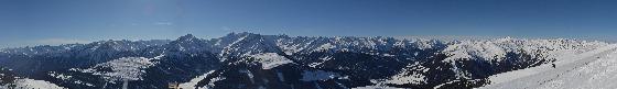 panorama blick auf gerlosplatte