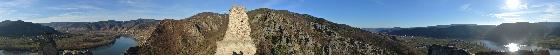 panorama blick ruine dürnstein