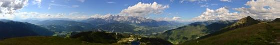 panorama dachstein und ennstal von gasslhöhe