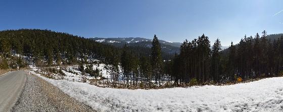 panorama schnee am feistritzsattel