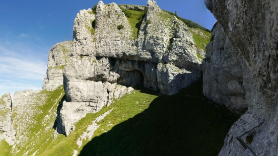 panorama sissi klettersteig durch den steig