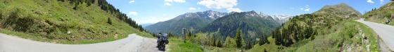 panorama sölkpass passtrasse von süden