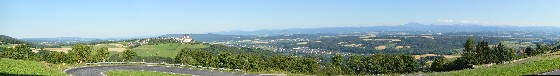 panorama über donau bei marbach an der donau