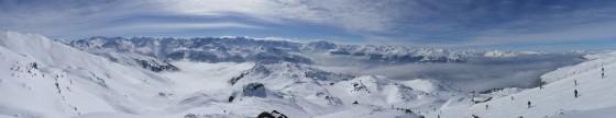 panorama verschneites königsleiten