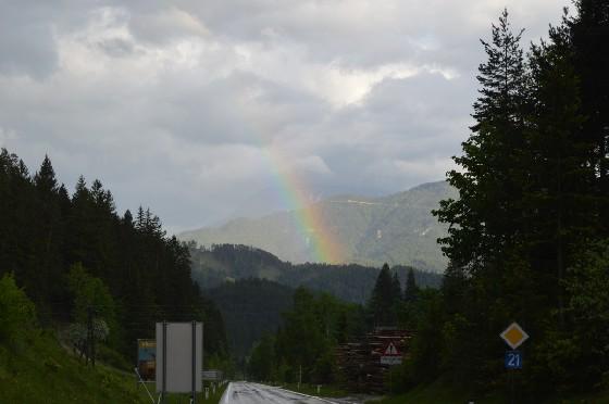 regenbogen in der kalten kuchl
