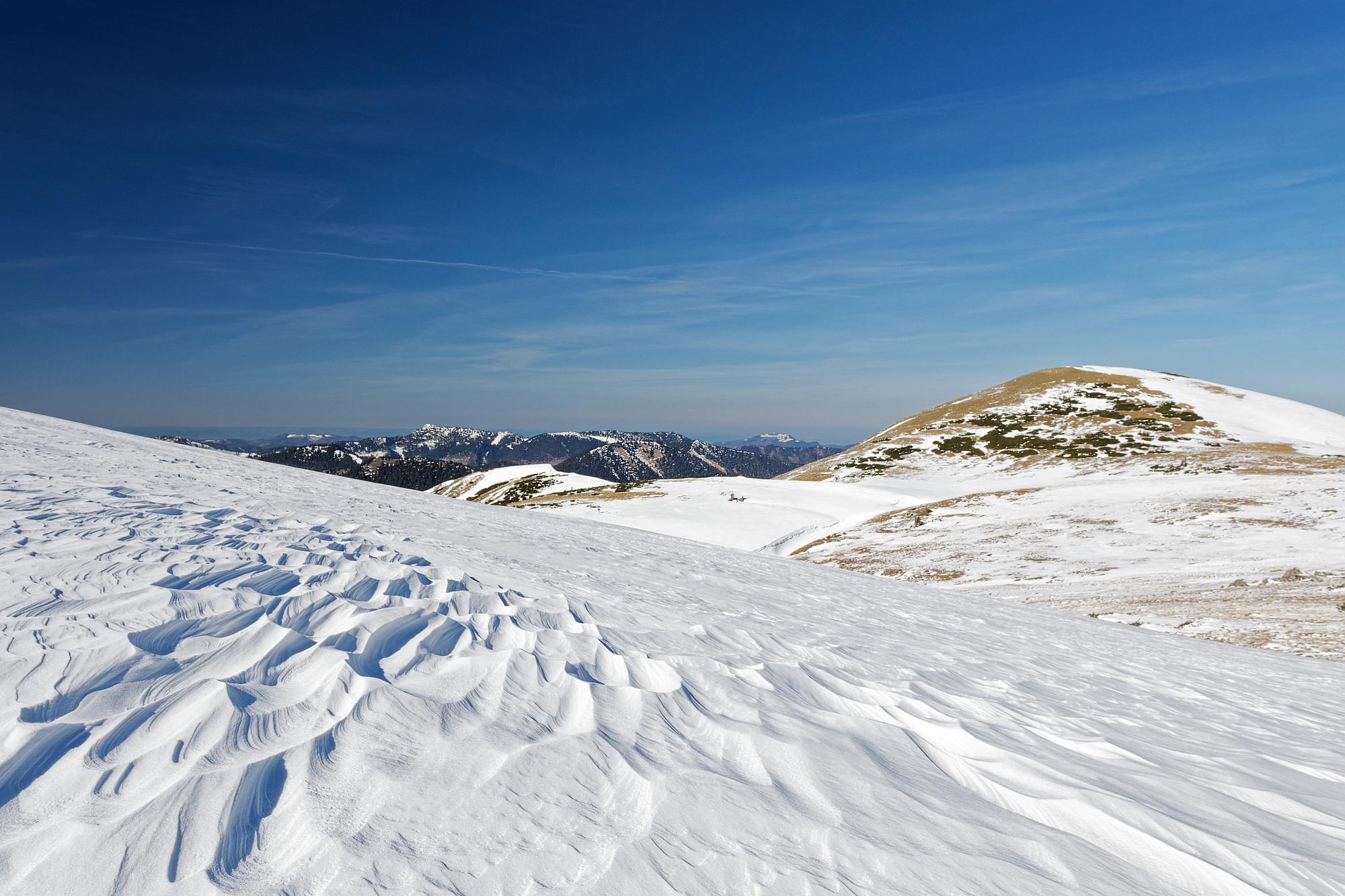 schneeformationen schneealpe 2021-03-10