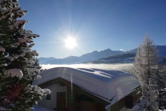 sonnenaufgang königsleiten schneedach