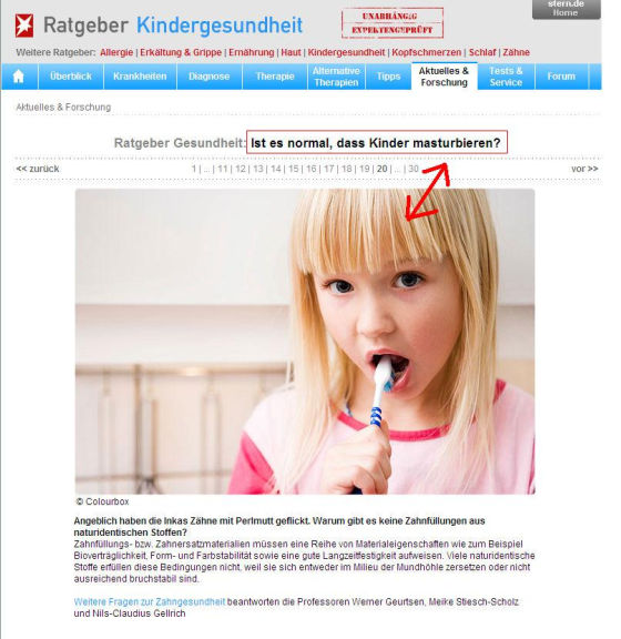 Stern.de und die Masturbation der Kinder - Potassiums Blog