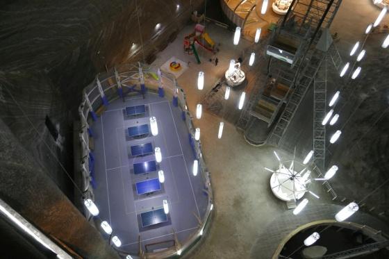 tischtennisplätze salzmine turda rumänien