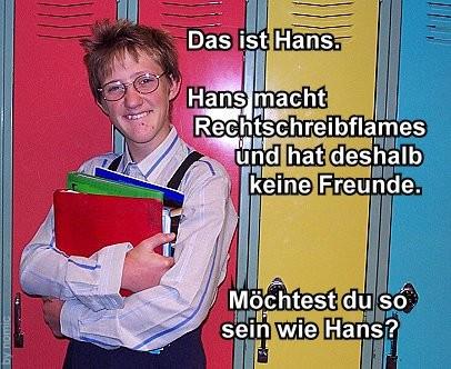 Rechtschreib Hans